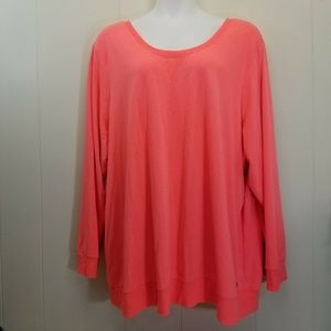 Torrid Active 6 Sweatshirt Coral Cut Out Back